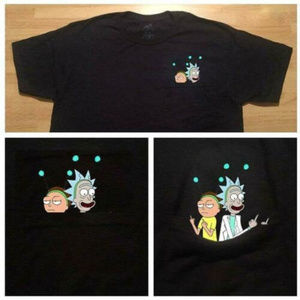 Rick And Morty In Pocket Men T-Shirt
